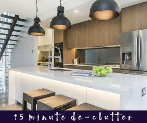 De-clutter Your House in 15 Minutes