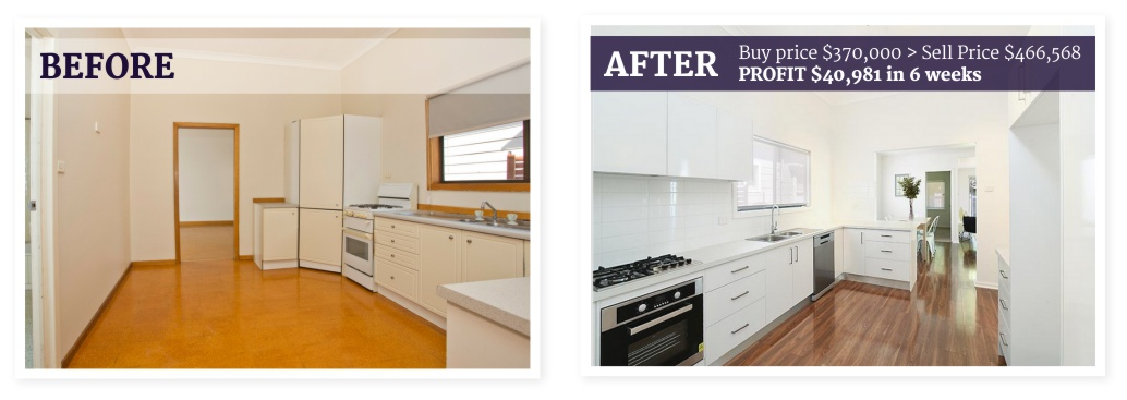 A successful and profitable kitchen makeover.