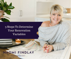 3 STEPS RENOVATION VARIABLES