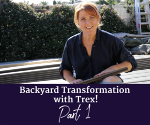 Backyard transformation with Trex Part 1