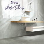Image of bathroom with Beaumont's Slab Tiles