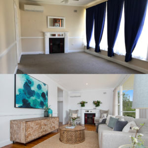 Before and After Photos - Lounge room