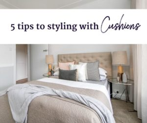5 tips to styling with cushions