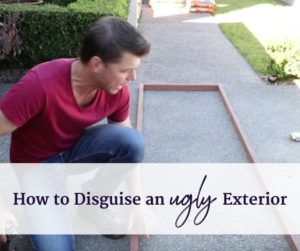 how to disguise an ugly retainer wall