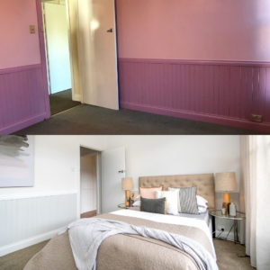 Before and After Photos - Bedroom Renovation