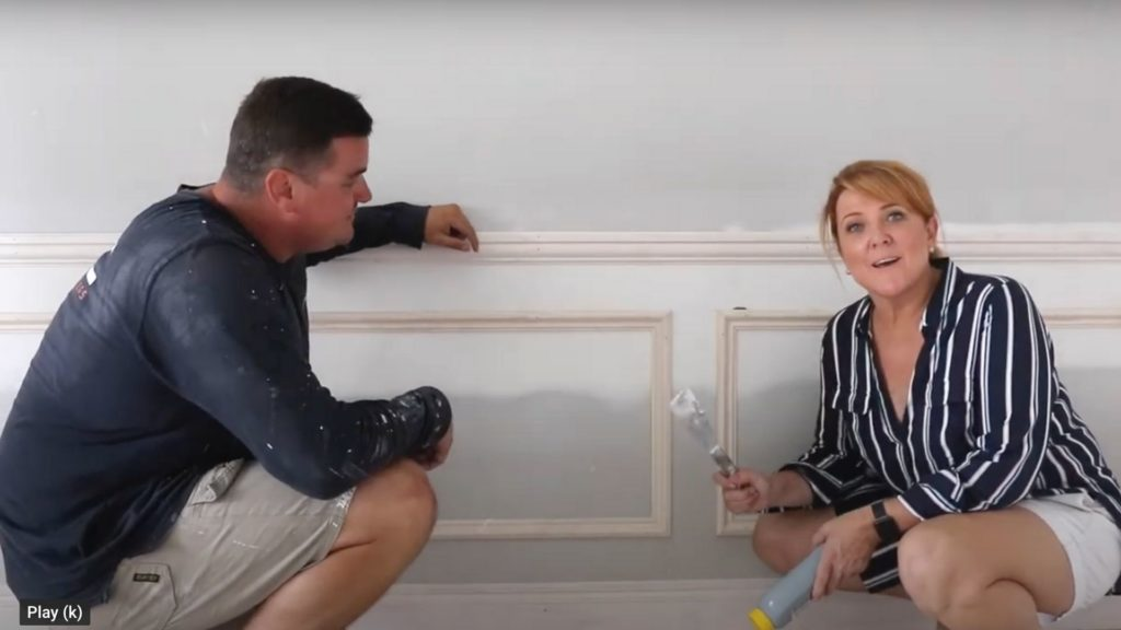 using two tools to fill and putty your DIY walls ready for paint