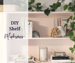 DIY shelf makeover in home office