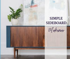 sideboard paint makeover