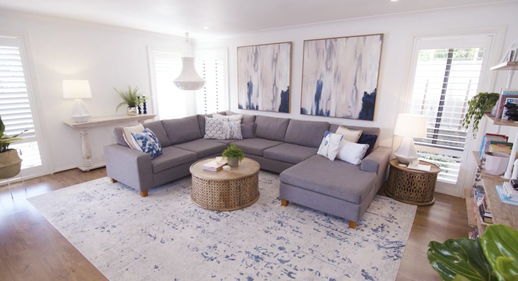 large living room makeover with Naomi Findlay